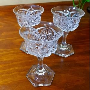 Vintage Dessert Glasses, set of 3
